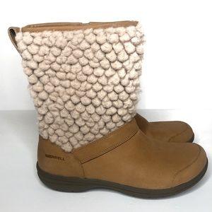 New Merrell Encore Kassie Tall Tan Wool Boot 7.5